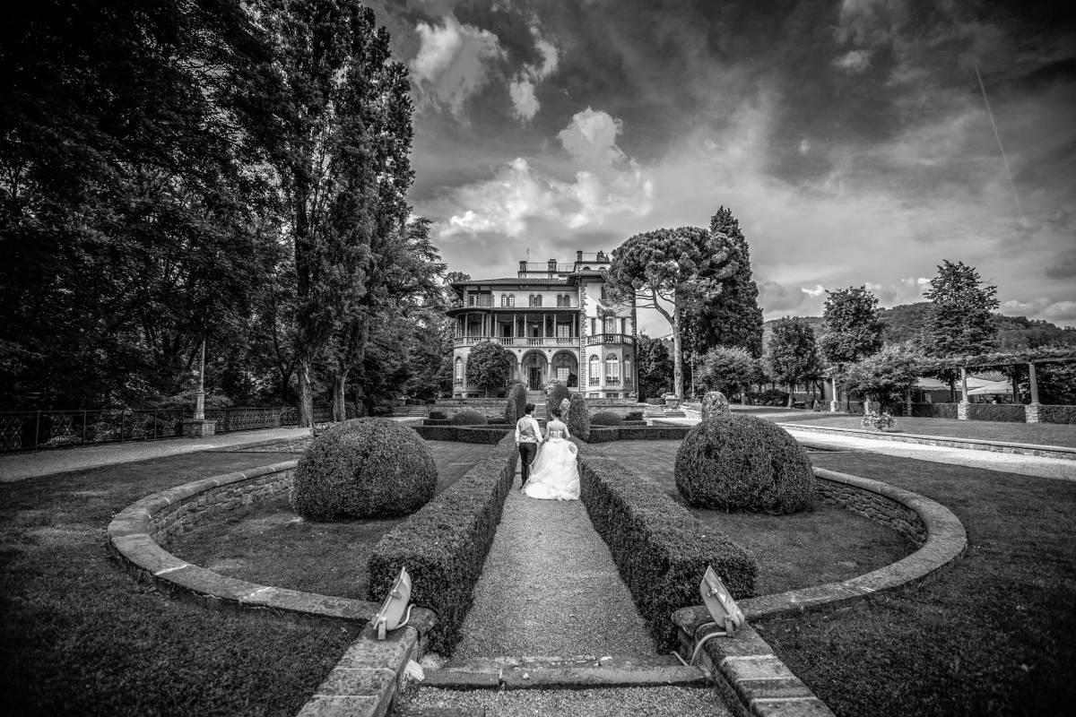 Servizio fotografico matrimonio a Villa Martinelli